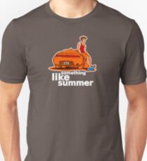 Something Like Summer - Dark colors / White text T-Shirt