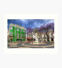 Jacaranda Square Lagos Art Print