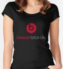'Brick City BEATS' Women's Fitted Scoop T-Shirt