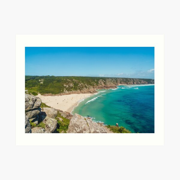 Porthcurno, Cornwall - 2020 Art Print