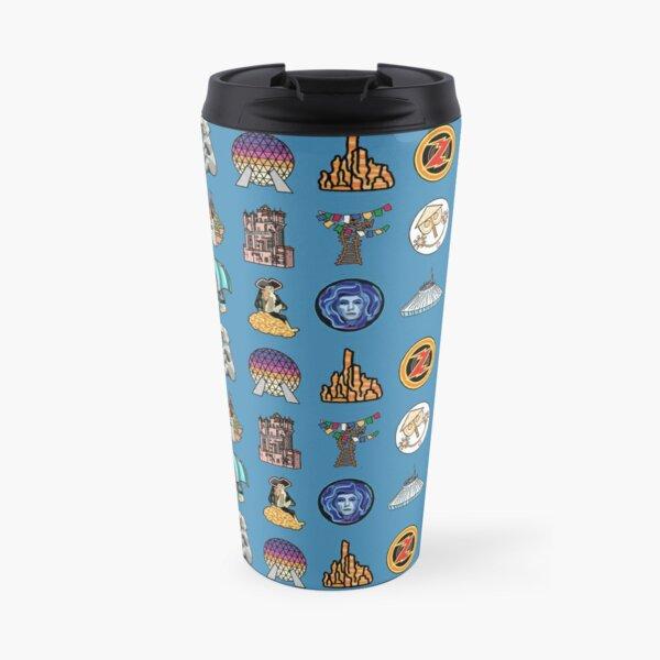 Ride Icon Pattern Travel Mug