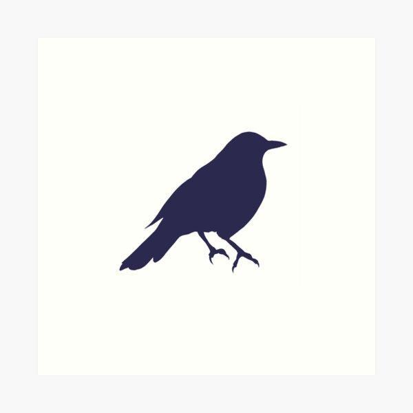 Cute Blackbird silhouette Art Print