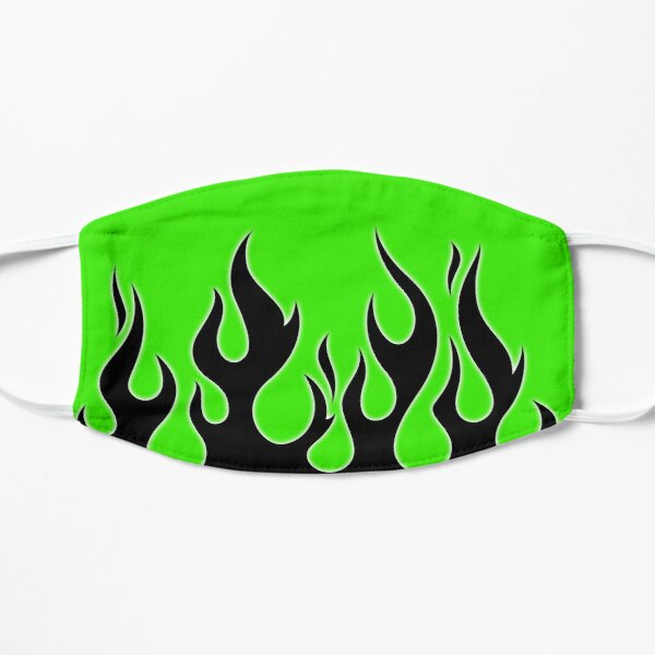 Green and black flames Mask