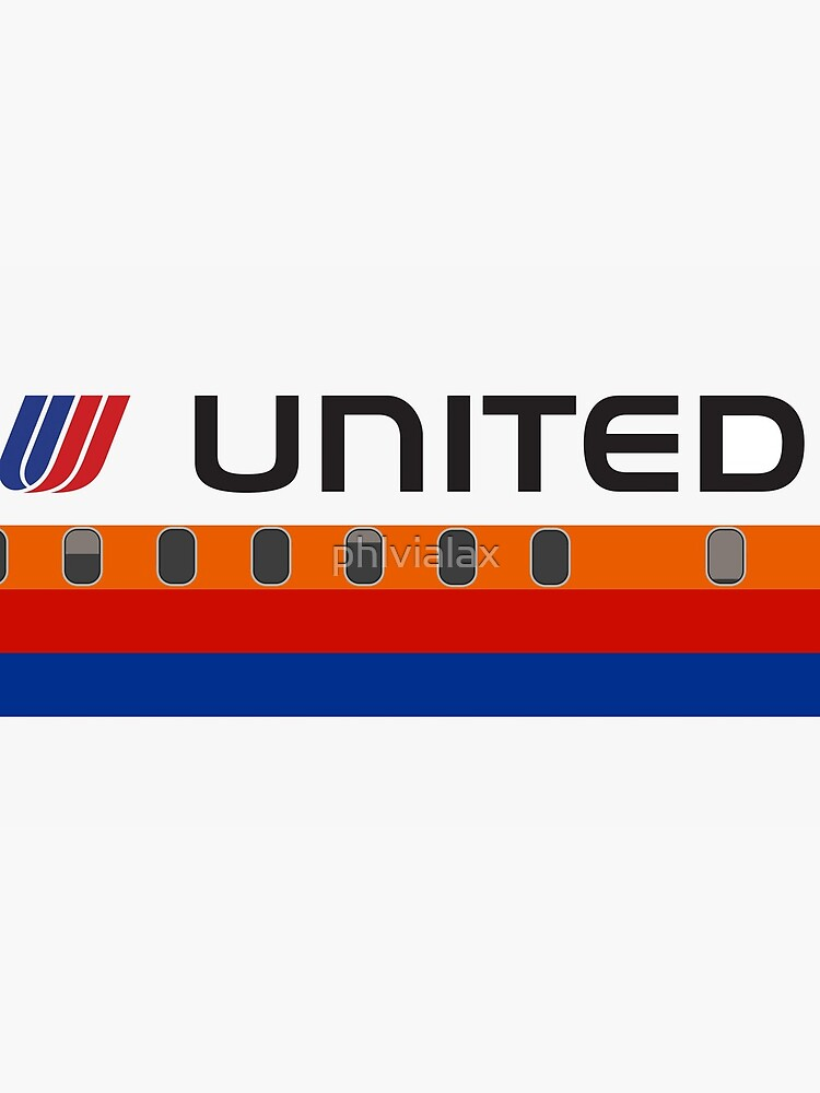 Plane Tees - United Airlines (Saul Bass) by phlvialax