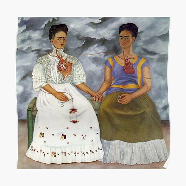 the two Fridas, las dos Fridas Póster