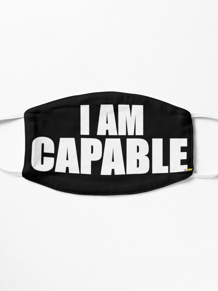 Alternate view of I AM CAPABLE Mask