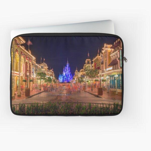Nighttime On Main Street USA Laptop Sleeve