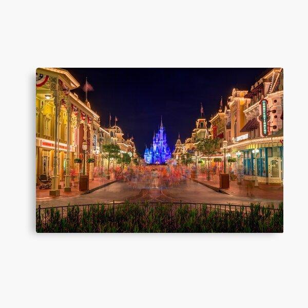 Nighttime On Main Street USA Canvas Print
