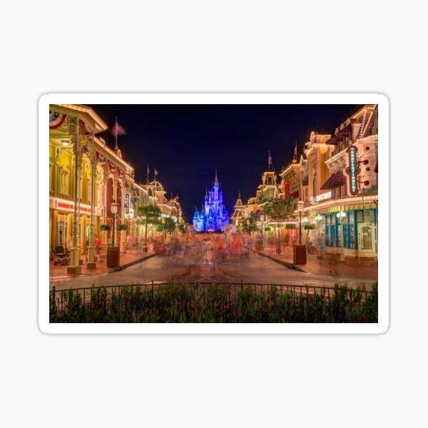 Nighttime On Main Street USA Sticker