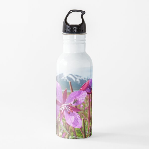 Watercolor Fly, House Fly 02, and Dwarf Fireweed, Dallvik, Iceland Water Bottle