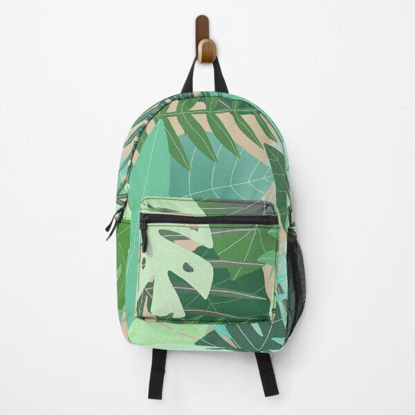Jungle Leaves Pattern  Backpack