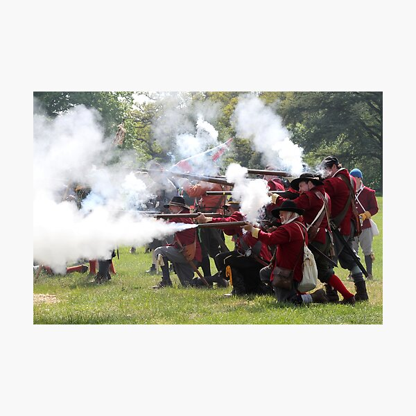 Musket Fire Photographic Print