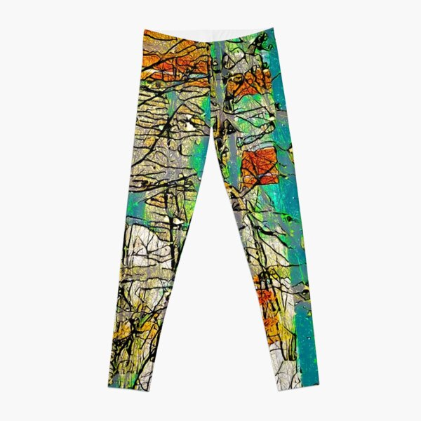Winter Bare Trees Abstract Leggings