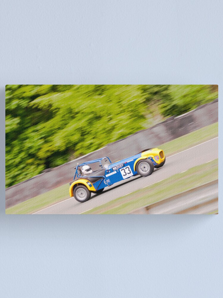 Alternate view of Caterham at speed Canvas Print
