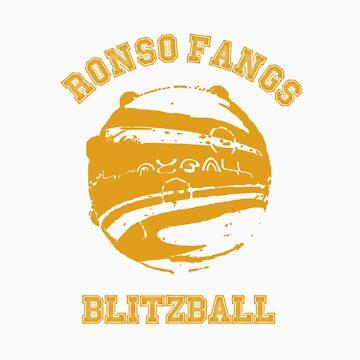 Ronso Fangs Blitzball Shirt by GeordanUK