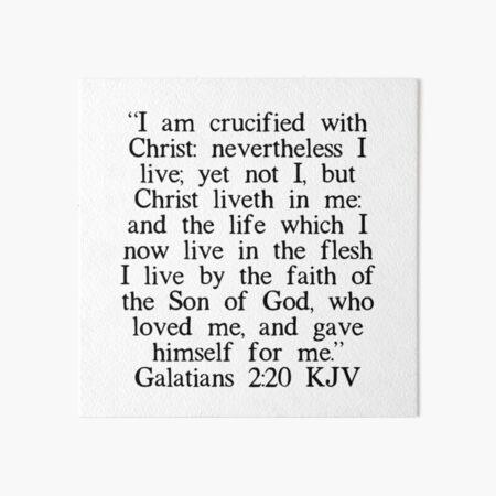 Galatians 2:20 KJV Art Board Print