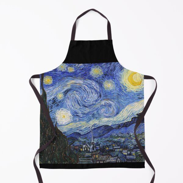 Starry Night Gifts - Vincent Van Gogh Classic Masterpiece Painting Gift Ideas for Art Lovers of Fine Classical Artwork from Artist Apron