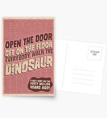 Everybody Walk The Dinosaur Postcards