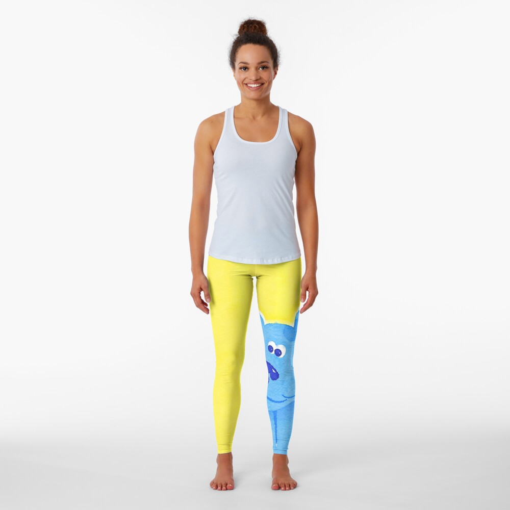 Blue Watercolor Leggings