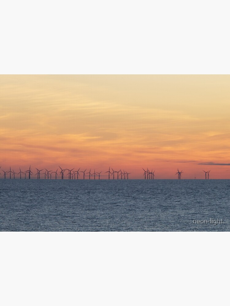 Sunsets Over the Burbo Bank Wind Farm by neon-light
