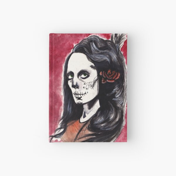 Portrait of a Skeleton Woman Hardcover Journal