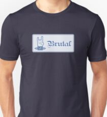 Brutal Button Unisex T-Shirt