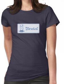 Brutal Button Womens Fitted T-Shirt