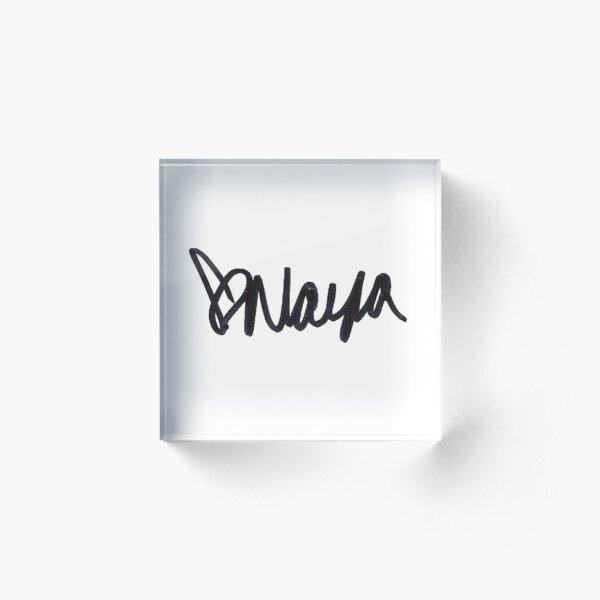 naya rivera autograph Acrylic Block