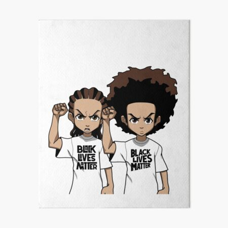 Riley And Huey Freeman Protesting Art Board Print