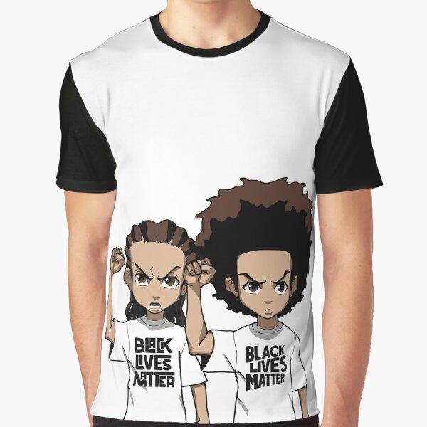 Riley And Huey Freeman Protesting Graphic T-Shirt