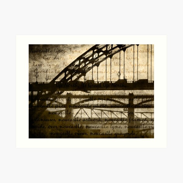 Newcastle Keywords Art Print