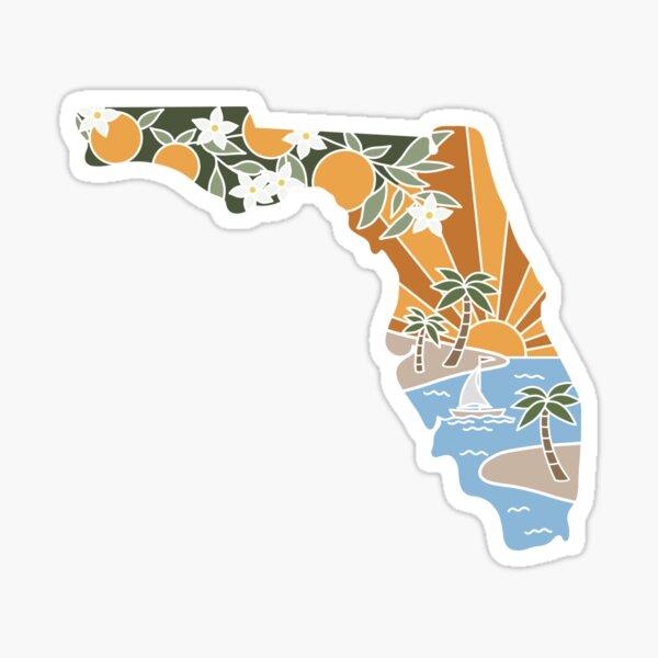 Florida Illustrated Graphic Sticker