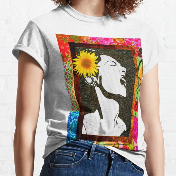 Lady Day in floral  Classic T-Shirt
