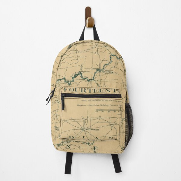 Vintage Map of Ohio River Lighthouses (1897) Backpack