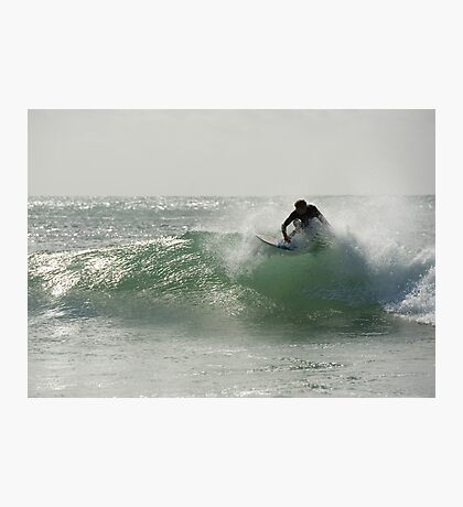 Straddie surfer Photographic Print