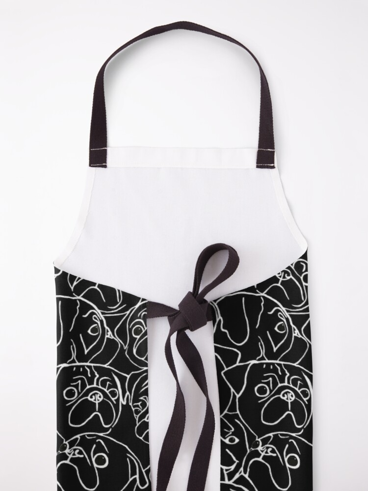 Alternate view of Black Pugs Apron
