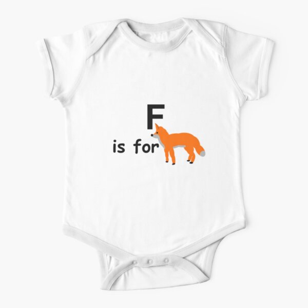 F is for ...V3 Short Sleeve Baby One-Piece
