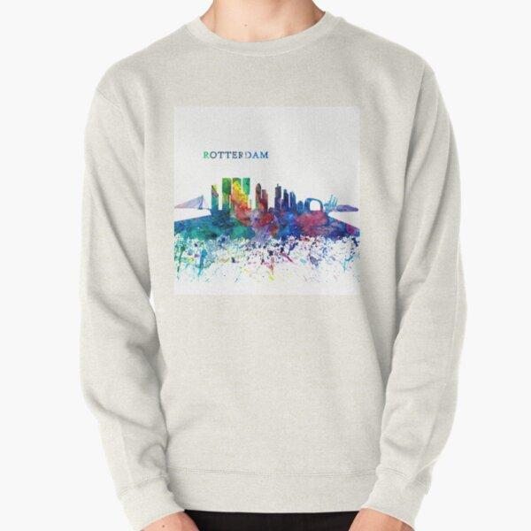 Rotterdam Holland Skyline Silhouette Impressionistic Splash Pullover Sweatshirt