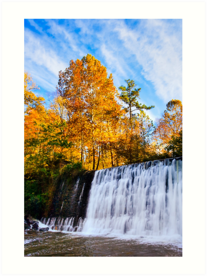 Autumn Falls - Roswell, Georgia by Mark Tisdale