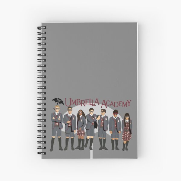 Le groupe Umbrella Academy Cahier à spirale