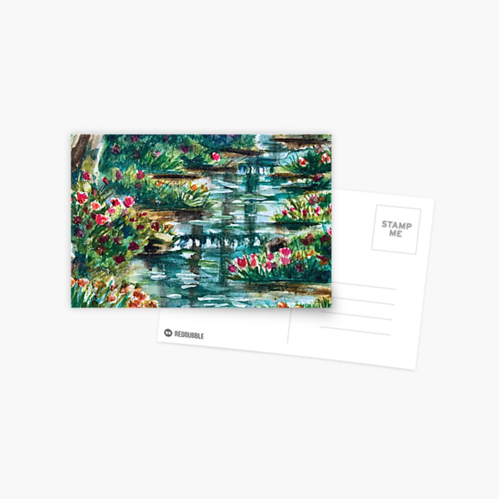 Florals by the stream Postcard