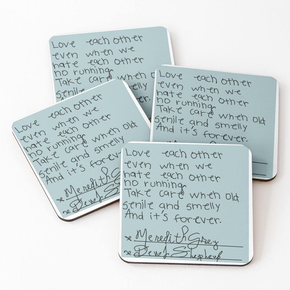 Post-it Grey's Anatomy Coasters (Set of 4)