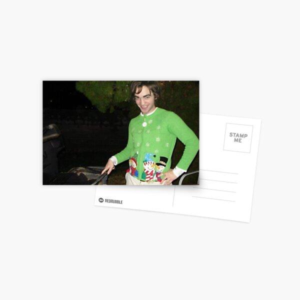 Robert Pattinson Christmas Sweater Postcard