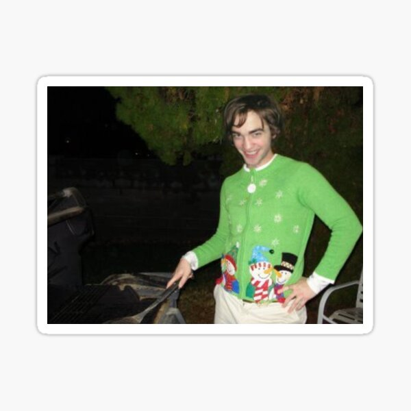 Robert Pattinson Christmas Sweater Sticker