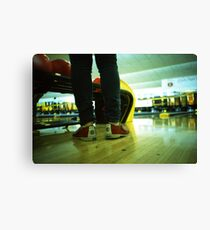 These Shoes Are Meant For Bowling - Lomo Canvas Print