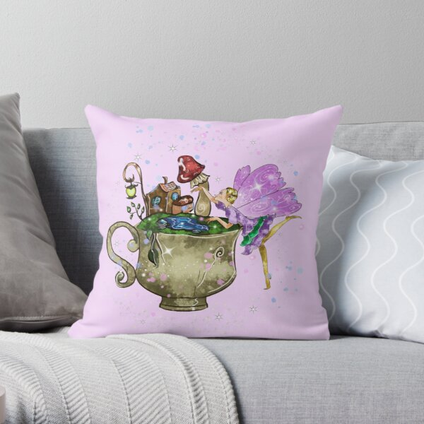 Tertia The Teacup Planter Fairy™️ Throw Pillow