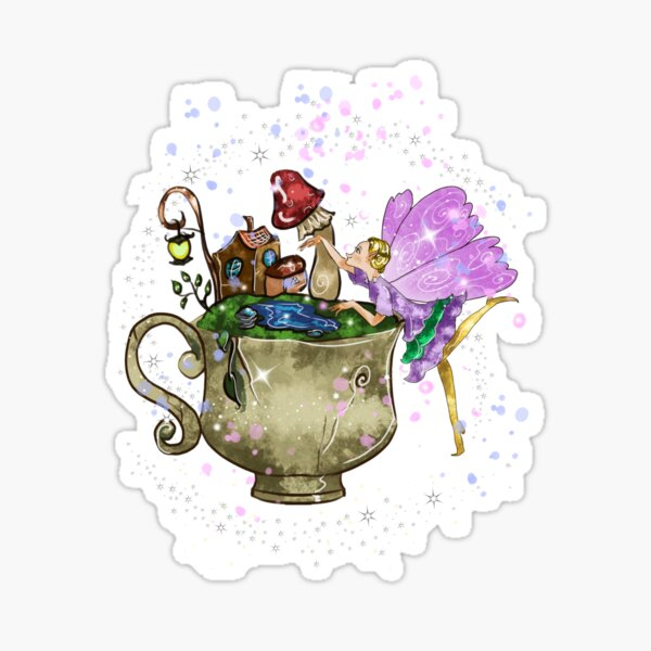 Tertia The Teacup Planter Fairy™️ Sticker