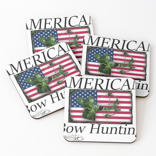 American camouflage Bow Hunter,  Coasters (Set of 4)