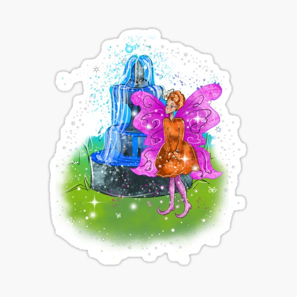 Fatunie The Birdbath & Fountain Fairy™ Sticker