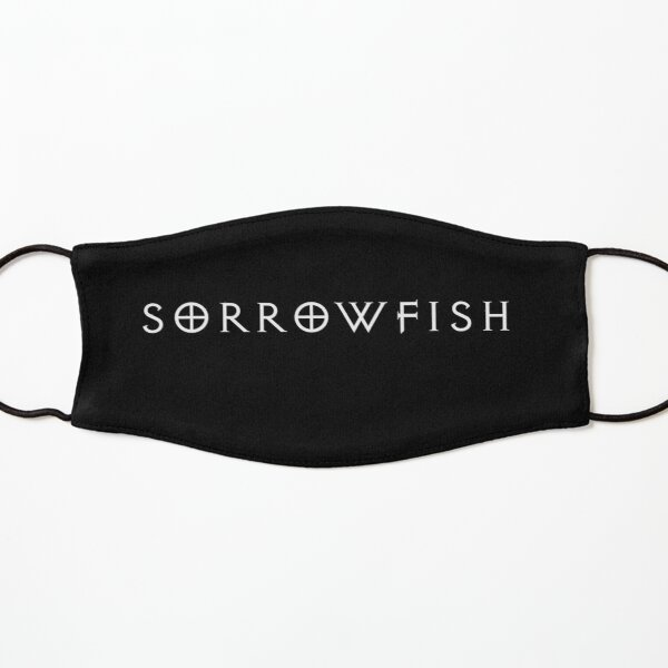 Sorrowfish-white-plain Kids Mask